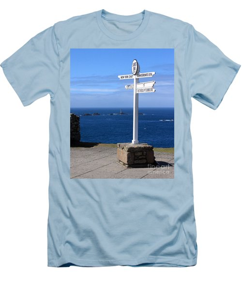 Men's T-Shirt (Slim Fit) featuring the photograph Iconic Lands End England by Terri Waters