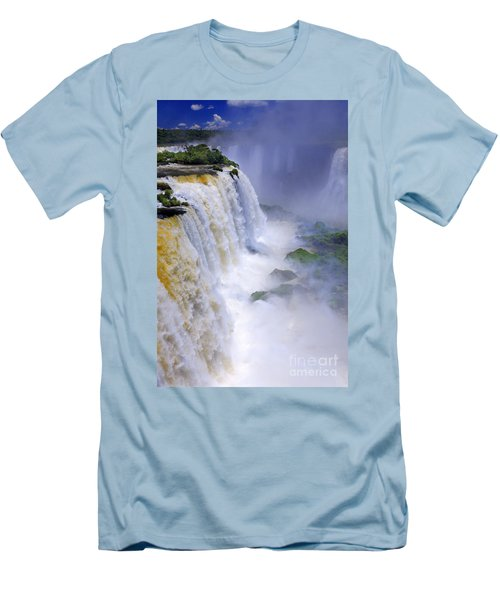 Iguazu Falls IIi Men's T-Shirt (Slim Fit) by Bernardo Galmarini