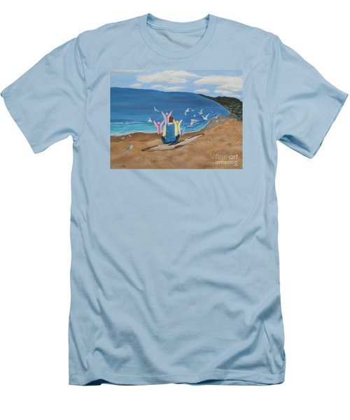 In Meditation Men's T-Shirt (Slim Fit) by Cheryl Bailey