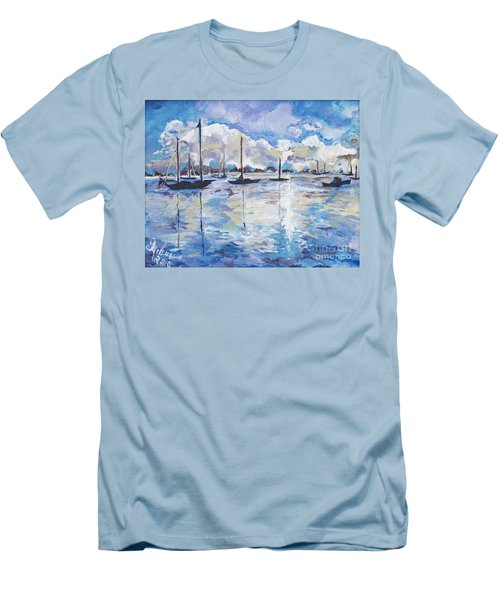 In Search For America's Freedom Men's T-Shirt (Slim Fit) by Helena Bebirian