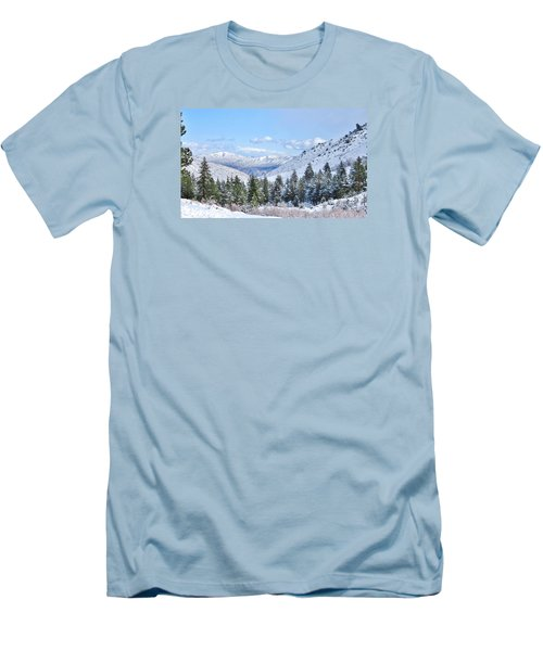 Men's T-Shirt (Slim Fit) featuring the photograph In The Canyon by Marilyn Diaz