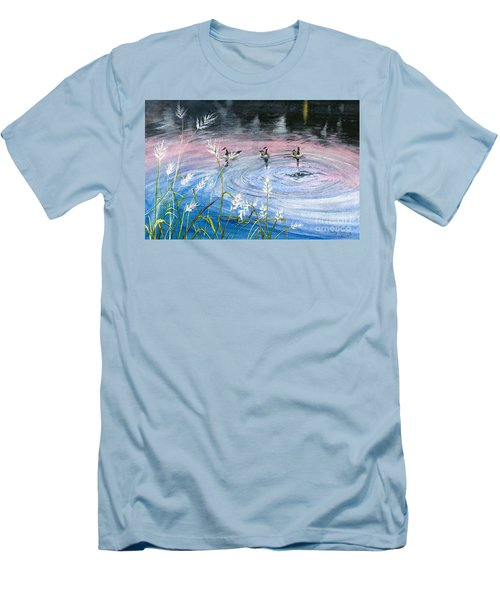 Men's T-Shirt (Slim Fit) featuring the painting In The Dusk by Melly Terpening
