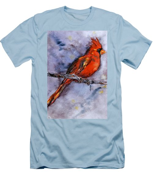 Men's T-Shirt (Slim Fit) featuring the painting In The Moment by Beverley Harper Tinsley
