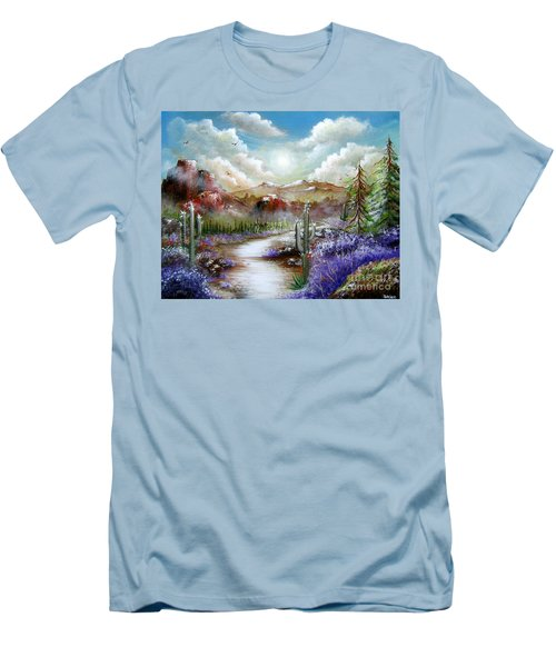 Men's T-Shirt (Slim Fit) featuring the painting Indian Gin And Whiskey Dry by Patrice Torrillo