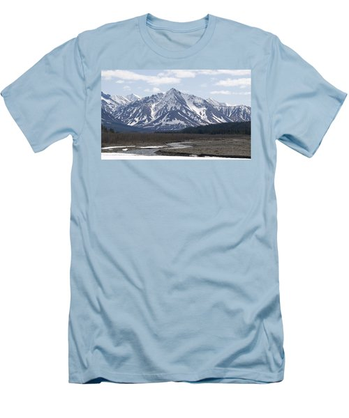 Inside Denali National Park 4 Men's T-Shirt (Slim Fit) by Tara Lynn