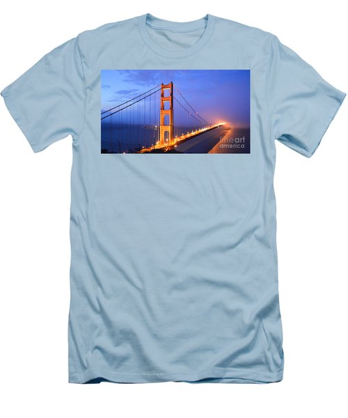 The Golden Gate Bridge Men's T-Shirt (Athletic Fit)