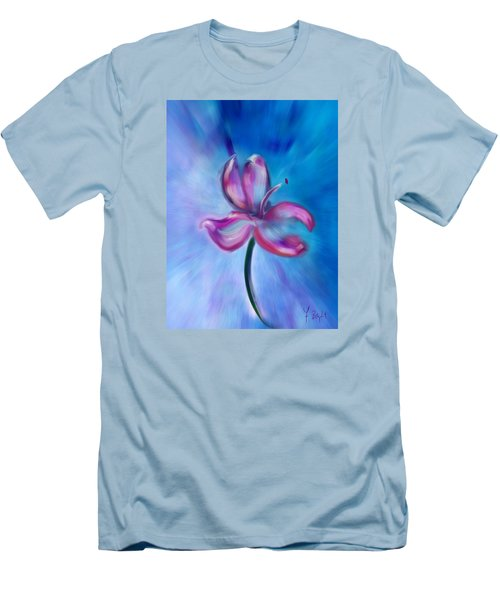 Men's T-Shirt (Slim Fit) featuring the digital art Iris In Pastel by Frank Bright
