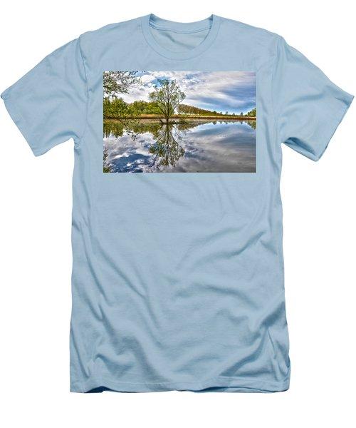 Island Tree Men's T-Shirt (Slim Fit) by Frans Blok
