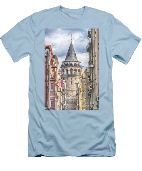 Istanbul Galata Tower Men's T-Shirt (Athletic Fit)