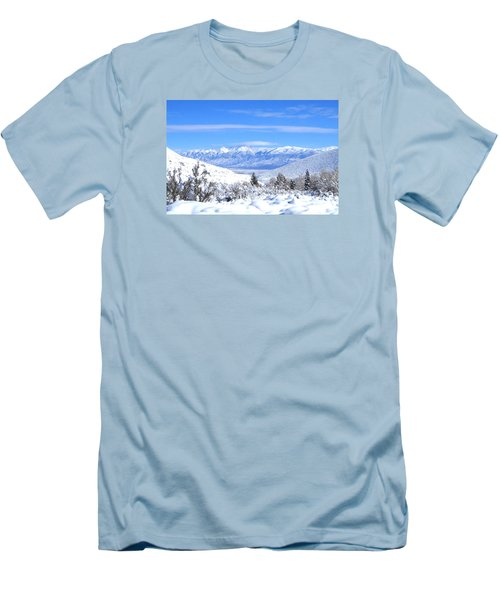 Men's T-Shirt (Slim Fit) featuring the photograph It Snowed by Marilyn Diaz