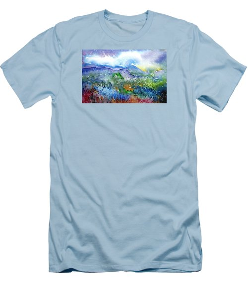 It Sometimes Rains In Tuscany Too  Men's T-Shirt (Slim Fit) by Trudi Doyle