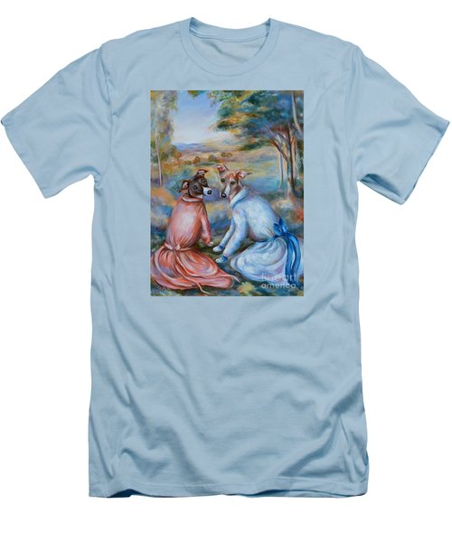 Italian Greyhounds Renoir Style Men's T-Shirt (Athletic Fit)
