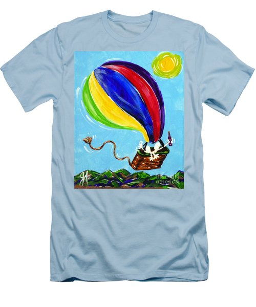 Men's T-Shirt (Slim Fit) featuring the painting Jack And Charlie Fly Away by Jackie Carpenter