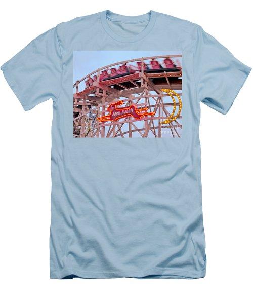 Jack Rabbit Coaster Kennywood Park Men's T-Shirt (Slim Fit) by Jim Zahniser