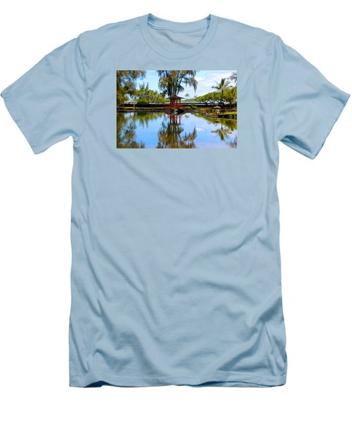 Japanese Gardens Men's T-Shirt (Slim Fit) by Venetia Featherstone-Witty