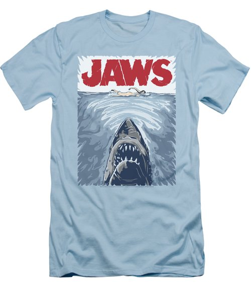 Jaws - Graphic Poster Men's T-Shirt (Athletic Fit)