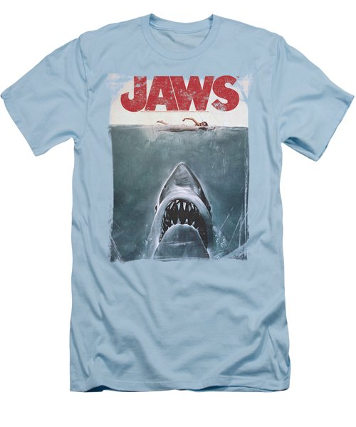 Jaws - Title Men's T-Shirt (Athletic Fit)