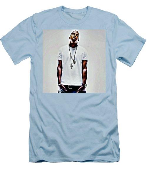 Jay-z Portrait Men's T-Shirt (Slim Fit) by Florian Rodarte