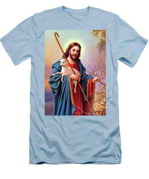 Jesus Shepherd Men's T-Shirt (Athletic Fit)