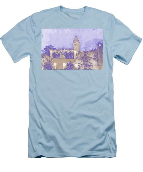 Men's T-Shirt (Slim Fit) featuring the photograph All Saints Day In Lacombe Louisiana by Luana K Perez