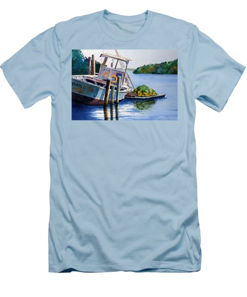 Men's T-Shirt (Slim Fit) featuring the painting Joan II And Mates by Roger Rockefeller