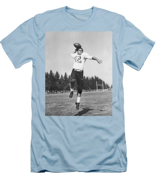 Joe Francis Throwing Football Men's T-Shirt (Athletic Fit)