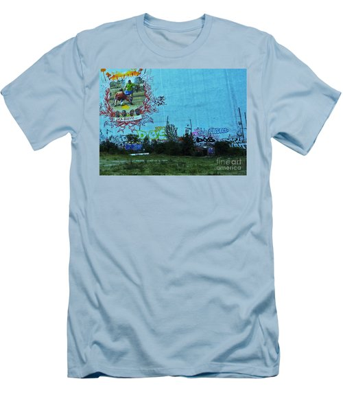 Joga Bonito - The Beautiful Game Men's T-Shirt (Slim Fit) by Andy Prendy