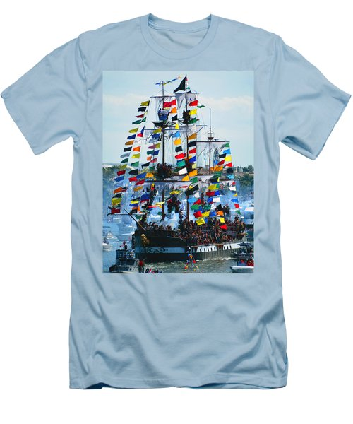 Jose Gasparilla Ship Work B Men's T-Shirt (Athletic Fit)