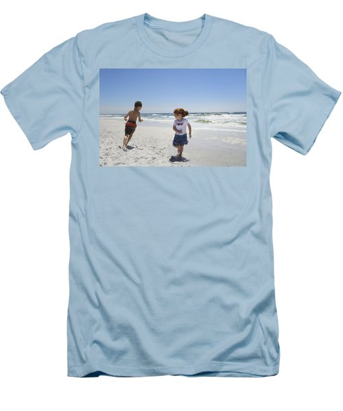 Joyful Play Of Children Men's T-Shirt (Slim Fit) by Charles Beeler
