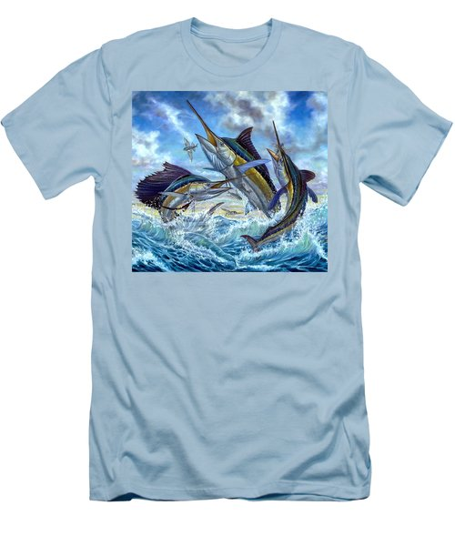 Jumping Grand Slam And Flyingfish Men's T-Shirt (Athletic Fit)