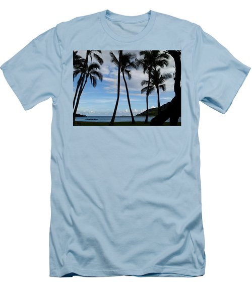 Kalapaki Beach Kauai Men's T-Shirt (Athletic Fit)