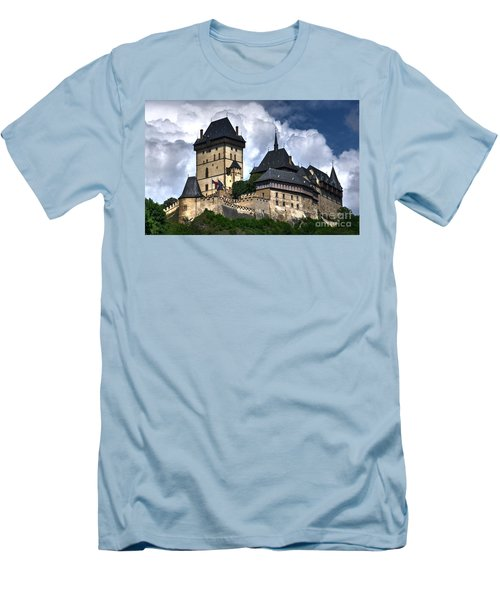 Men's T-Shirt (Slim Fit) featuring the photograph Karlstejn Castle In Prague 2 by Joe  Ng