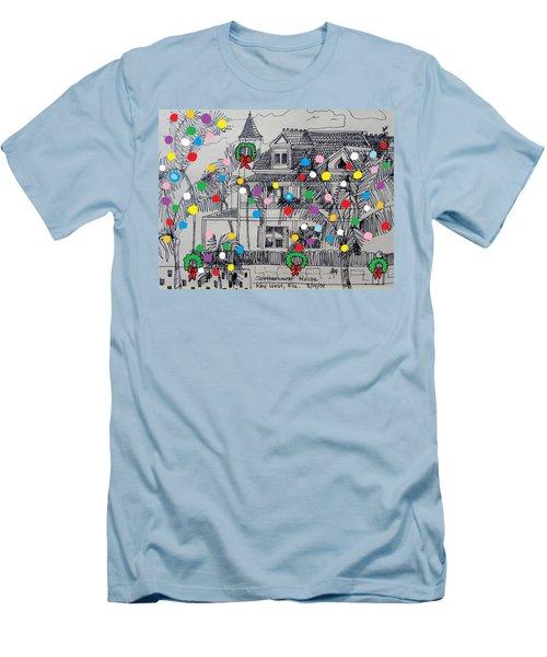 Key West Christmas Men's T-Shirt (Slim Fit) by Diane Pape