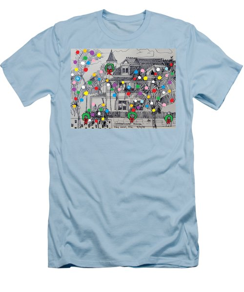 Key West Christmas Men's T-Shirt (Athletic Fit)