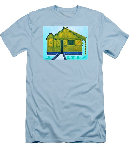 Men's T-Shirt (Slim Fit) featuring the painting Kiddie House by Lorna Maza