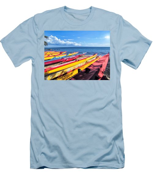 Men's T-Shirt (Slim Fit) featuring the photograph Kihei Canoe Club 6 by Dawn Eshelman