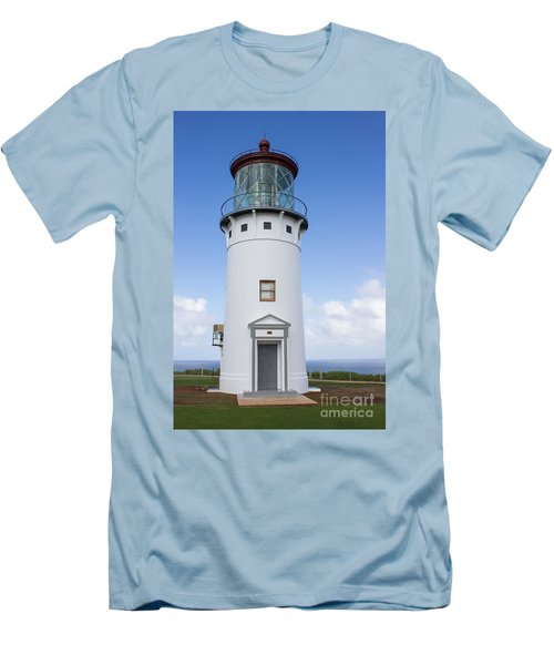 Men's T-Shirt (Slim Fit) featuring the photograph Kilauea Lighthouse by Suzanne Luft