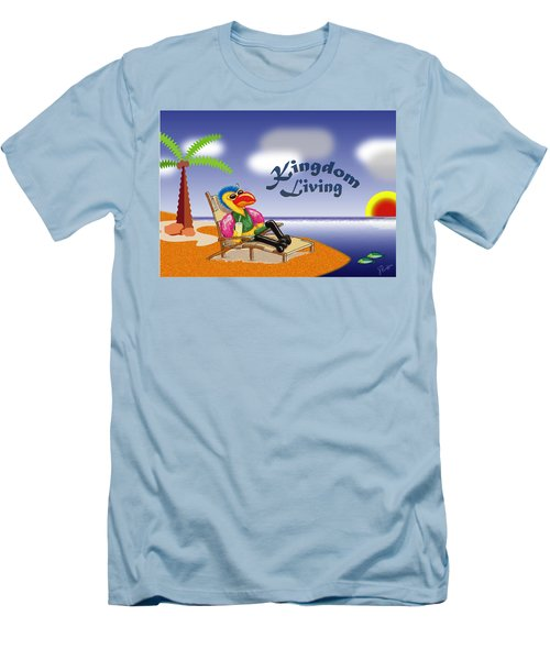 Kingdom Living Men's T-Shirt (Slim Fit) by Jerry Ruffin