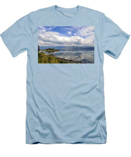 Men's T-Shirt (Slim Fit) featuring the photograph Kluane Reflections by Cathy Mahnke