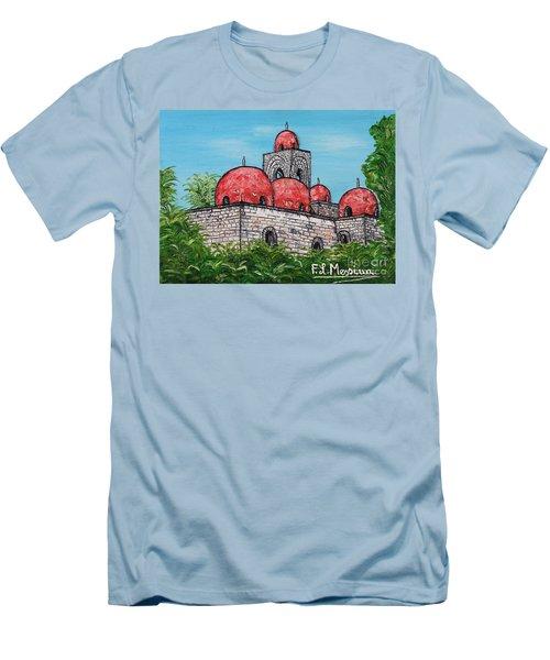 La Chiesa Di San Giovanni Degli Eremiti  Men's T-Shirt (Slim Fit) by Loredana Messina