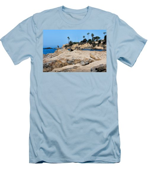 Laguna Men's T-Shirt (Slim Fit) by Tammy Espino