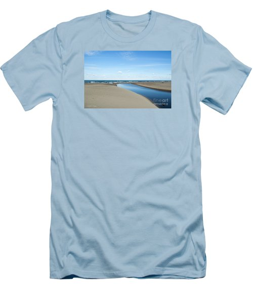 Lake Michigan Waterway  Men's T-Shirt (Slim Fit) by Verana Stark