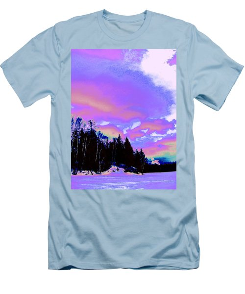 Winter  Snow Sky  Men's T-Shirt (Athletic Fit)
