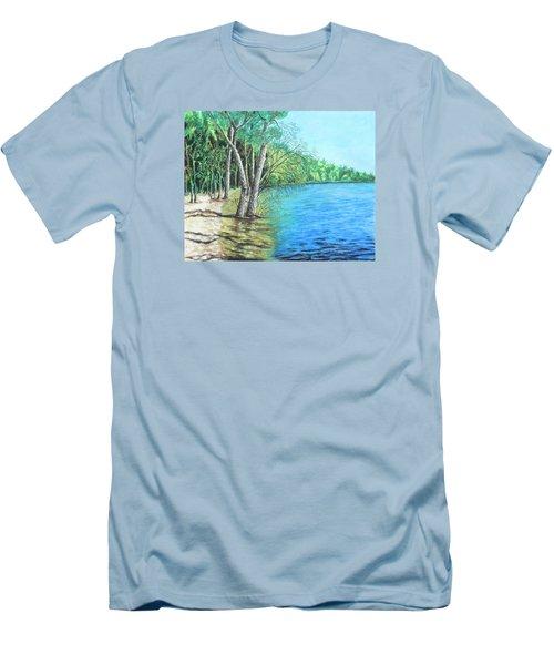 Lakeland 2 Men's T-Shirt (Slim Fit) by Jeanne Fischer