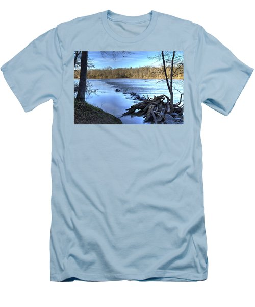 Landsford Canal-1 Men's T-Shirt (Slim Fit) by Charles Hite