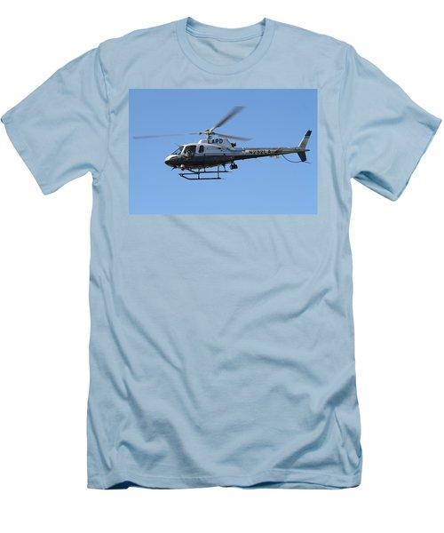 Lapd In Flight Men's T-Shirt (Slim Fit) by Shoal Hollingsworth