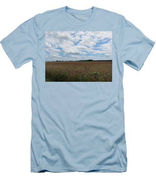 Men's T-Shirt (Slim Fit) featuring the photograph Last Of The Poppies by Pema Hou