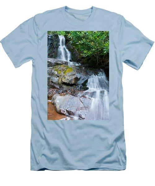 Laurel Falls Men's T-Shirt (Slim Fit) by Melinda Fawver
