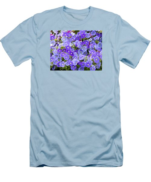Lavender And Purple Men's T-Shirt (Slim Fit) by Mariarosa Rockefeller