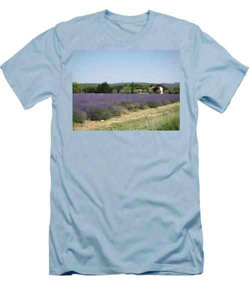 Lavender Farm Men's T-Shirt (Slim Fit) by Pema Hou